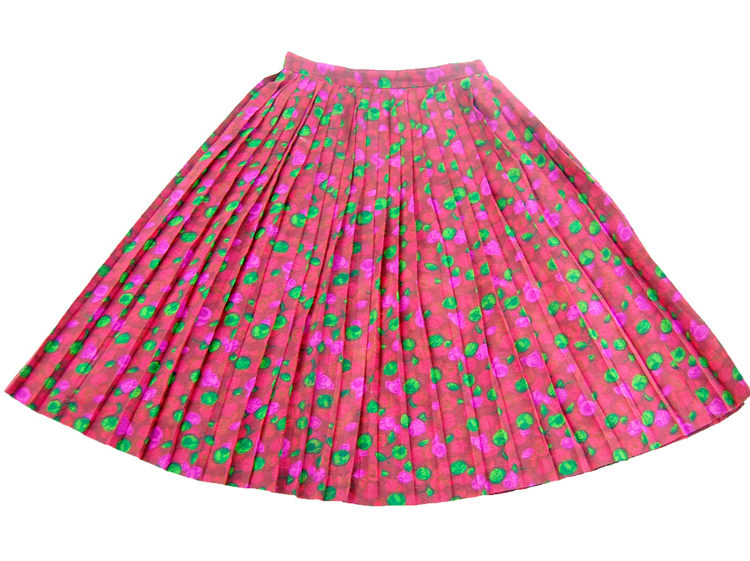 60s Child Size Floral Skirt
