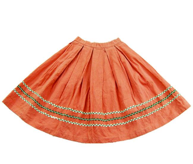 60s True Vintage Pink Peasant Skirt