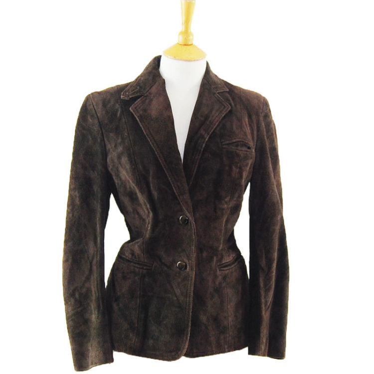 70s Brown Suede Leather Jacket