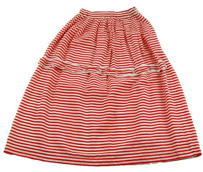 70s Candy Stripe A-Line Skirt