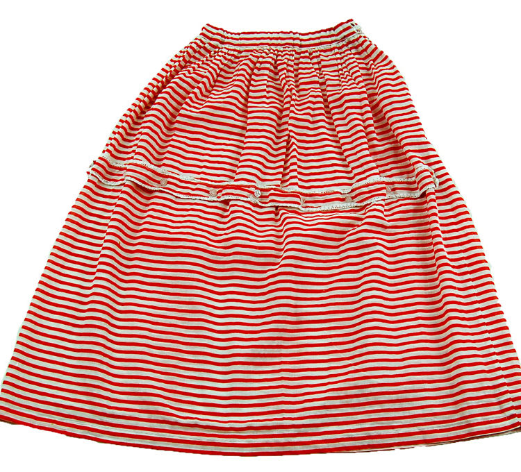 70s Candy Stripe A-Line Skirt
