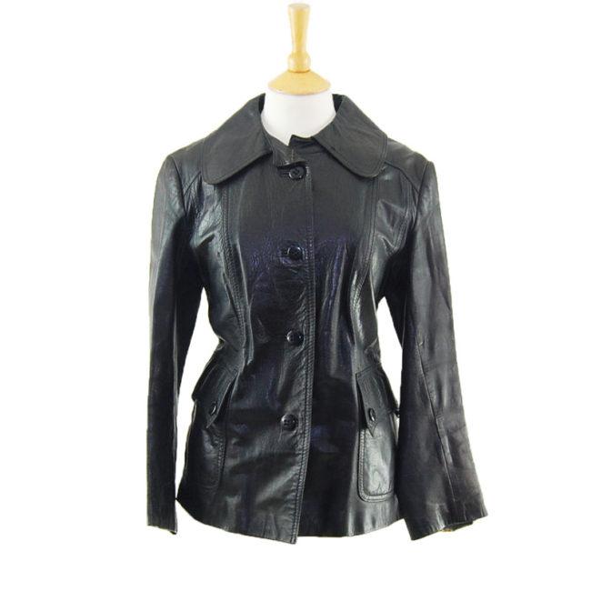 70s Free Line Leather Jacket