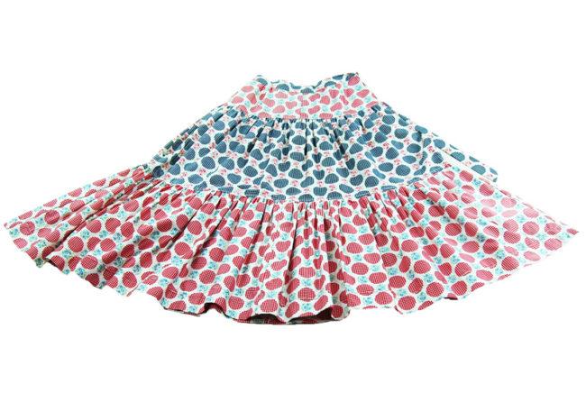 70s Multicolored Pattern Skirt