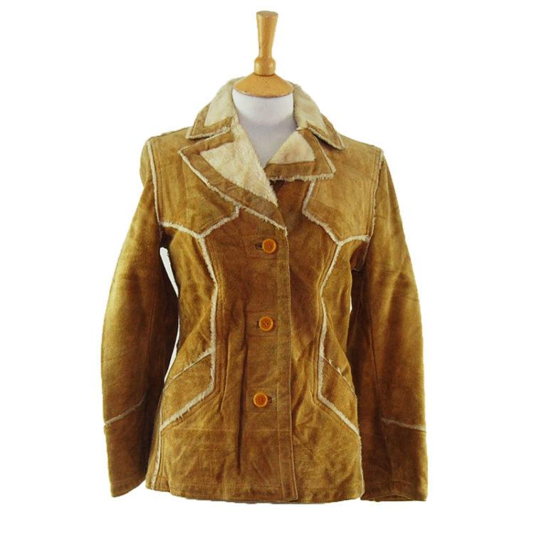 70s Suede And Sheepskin Vintage Jacket
