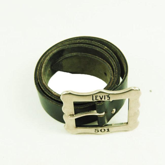 80s Black Vintage Levis 501 Belt