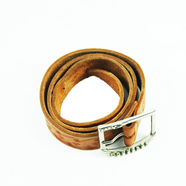 80s Brown Western Cow Boy Belt