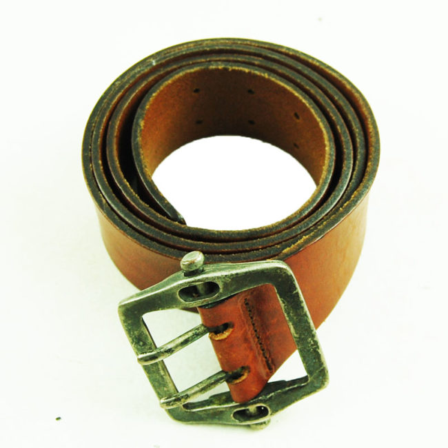 80s Thick Brown Cow Boy Belt