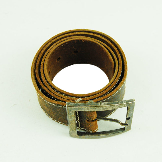 80s Thick Brown Leather Belt
