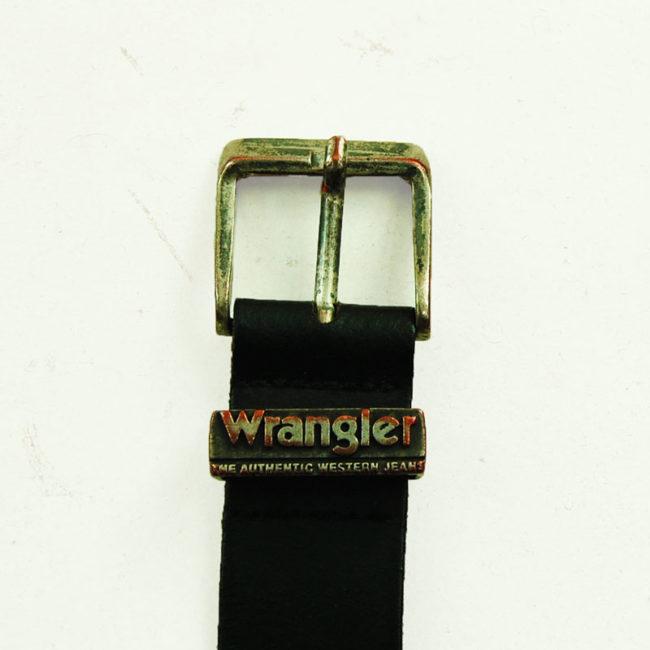 80s Wrangler Black Leather Belt