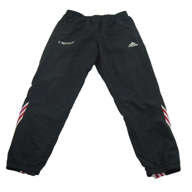 90s Black Adidas Sports Trackie Bottoms