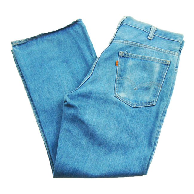 side of Levis 563 Low Rise Flared Jeans