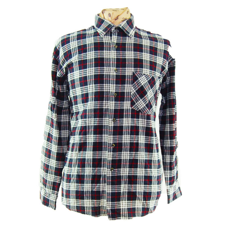 90s Oversized Plaid Flannel Shirt