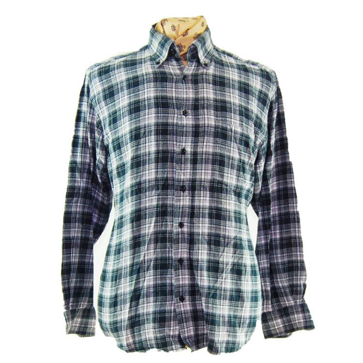 90s Retro Grunge Plaid Flannel Shirt