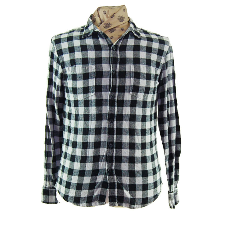 90s Small Plaid Flannel Shirt