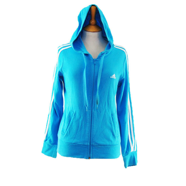 Baby Blue Adidas Zipper Hoodie