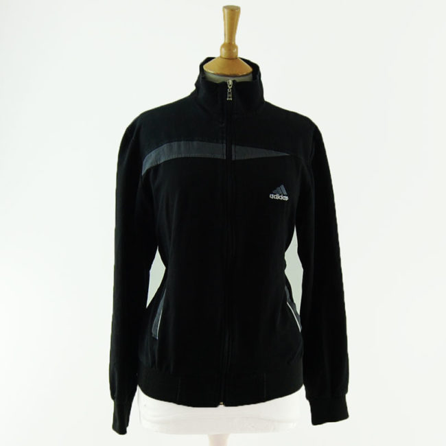 Black Adidas Sportswear Zip Up Hoodie