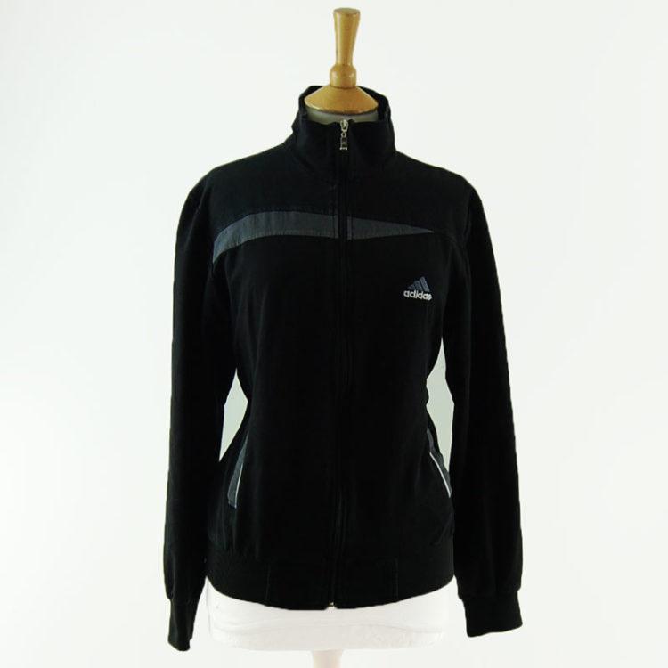 Black Adidas Sportswear Zip Up Hoodie
