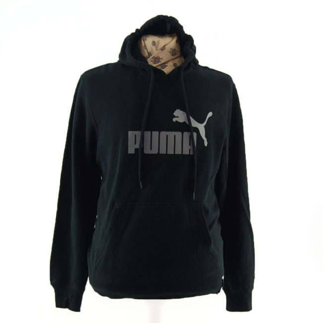 Black And Grey Puma Pullover Hoodie