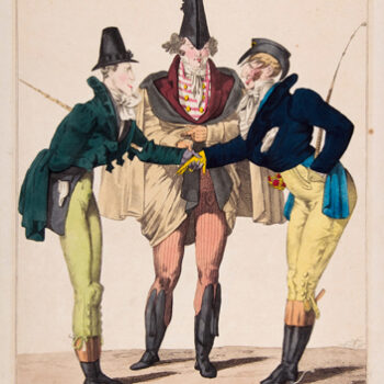 fashion illustration - Georges-Jacques Gatine, Le Goût du Jour, No. 21: Les Modernes Incroyables, from Caricatures Parisiennes, ca.1815