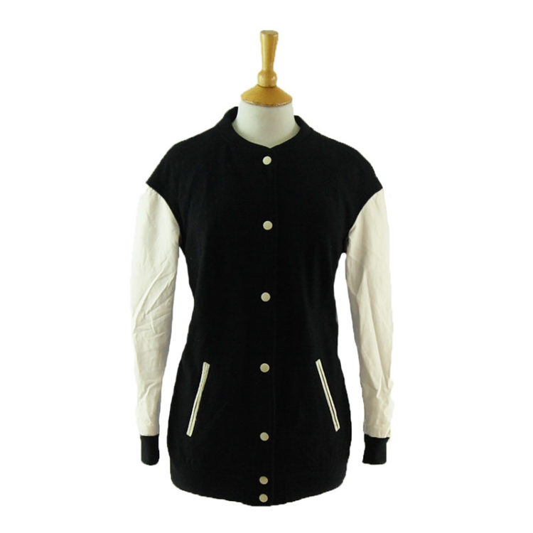 H&M Black And White Baseball Jacket