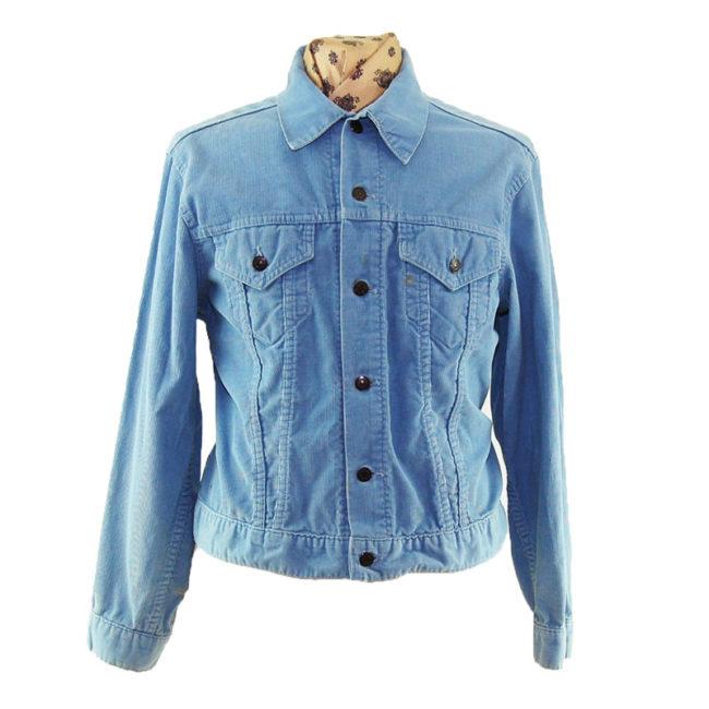 70s Levis Slim Fit Cord Denim Jacket