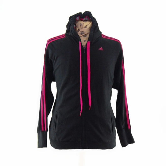Oversized Pink And Black Hoodie