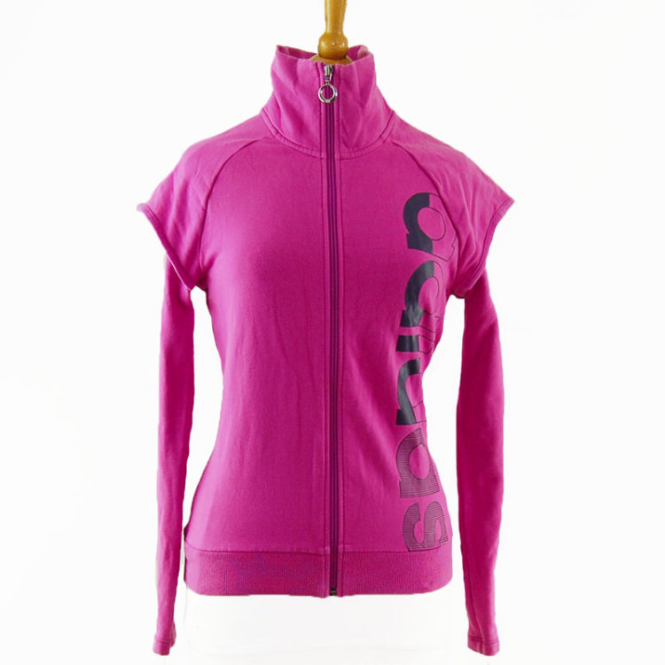 Pink Double Layer Adidas Zip Up Jacket