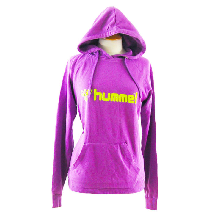 Purple And Green Hummel Pullover Hoodie