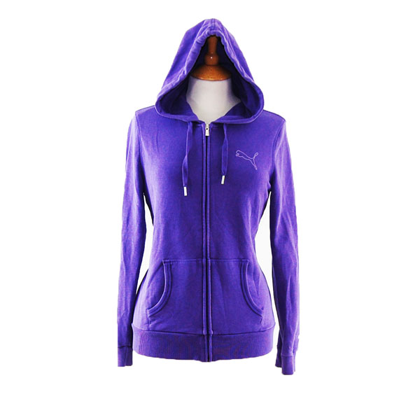 Purple Puma Zip Up Hoodie