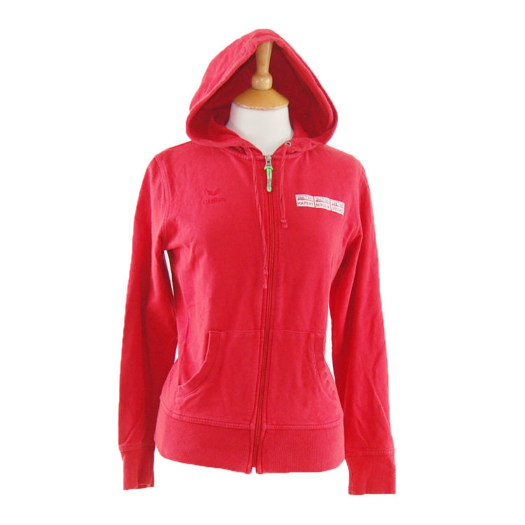 Red Erima Fitness Zip Up Hoodie