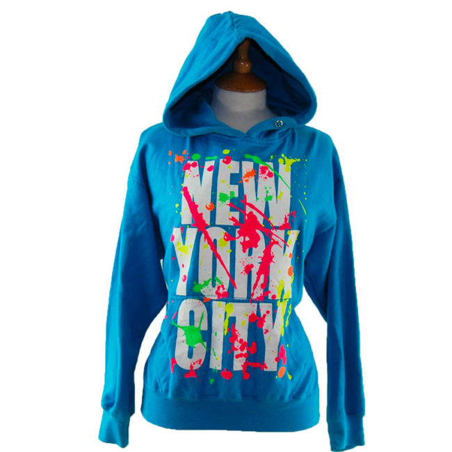 Turquoise New York Tourist Hoodie