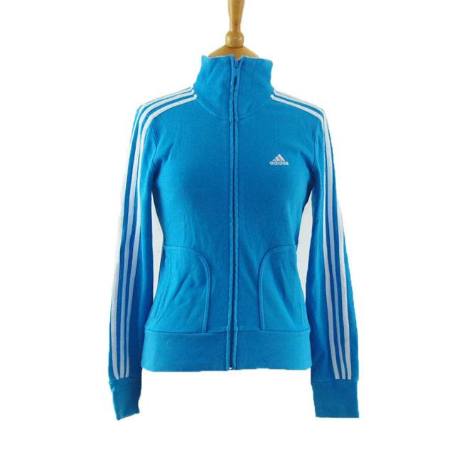 Vibrant Blue Adidas Zip Up Hoodie