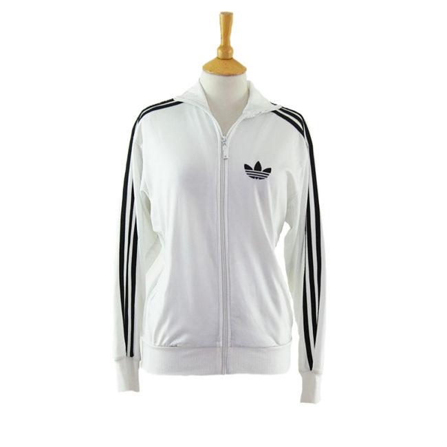 Vintage White Adidas Zip Up Jacket