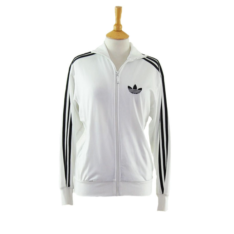 Vintage White Adidas Zip Up Jacket