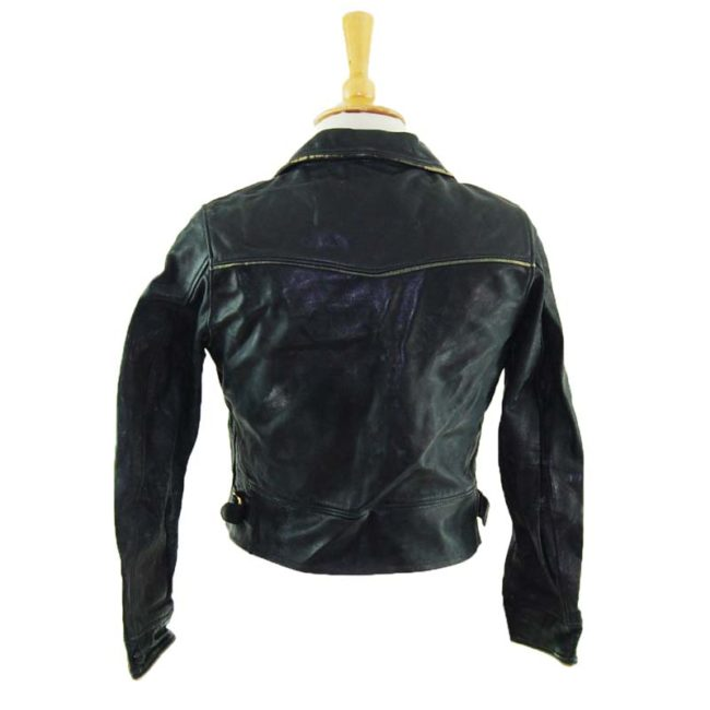 back of 1940s Womens Leather Jacket