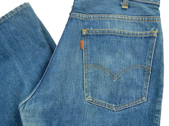 back of Levi Bootcut 550 Jeans
