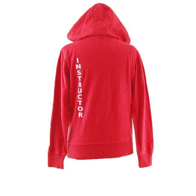 back of Red Erima Fitness Zip Up Hoodie