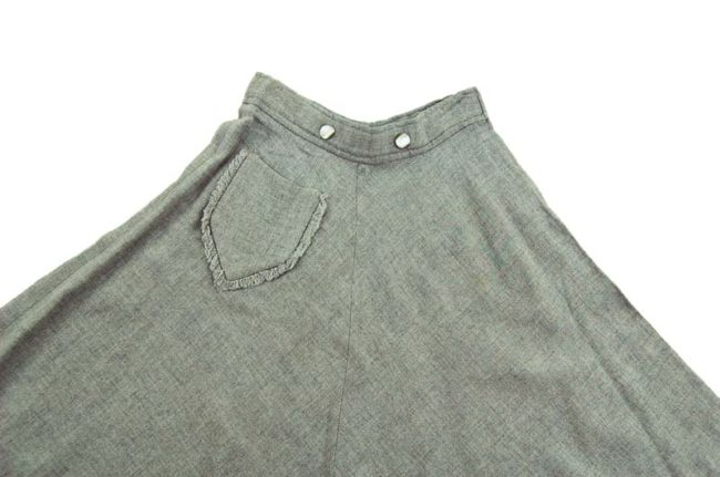 close up of 50s Vintage Grey Mini A-line Skirt