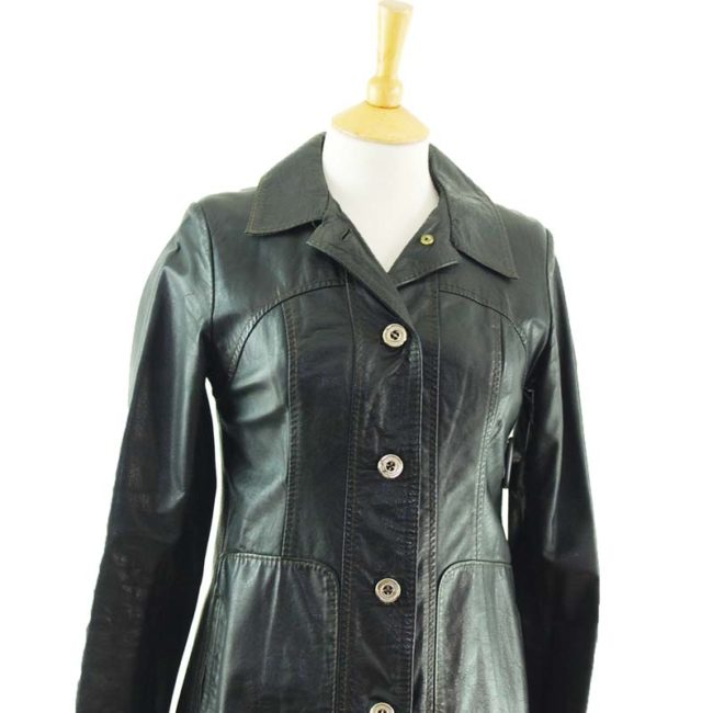 close up of 70s Authentic Vintage Leather Jacket
