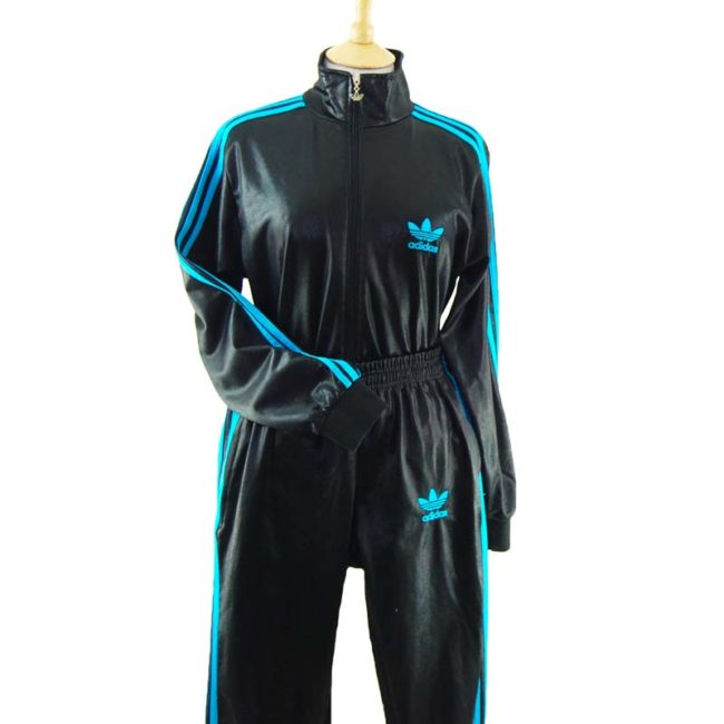 close up of Black Adidas Chile 62 Tracksuit