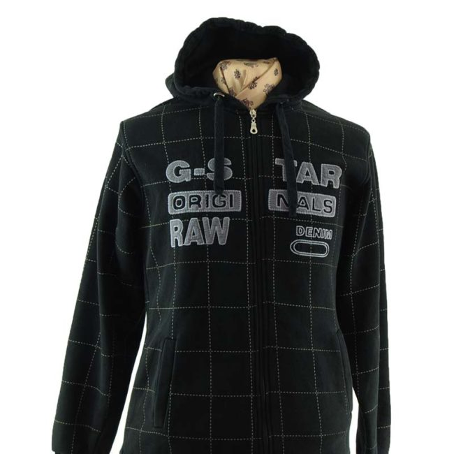 close up of G. Start Original Raw Zip Up Hoodie