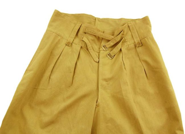 close up of Vintage WW2 Military Shorts