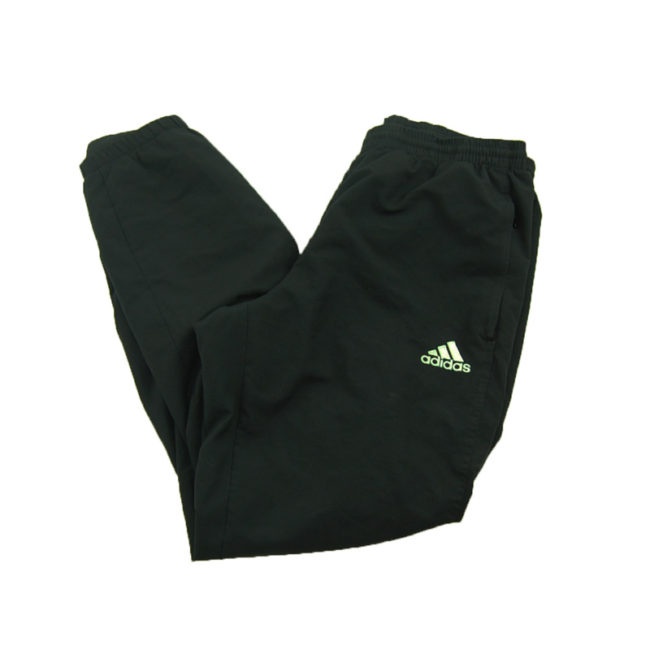 side of 90s Black Adidas Sports Trackie Bottoms