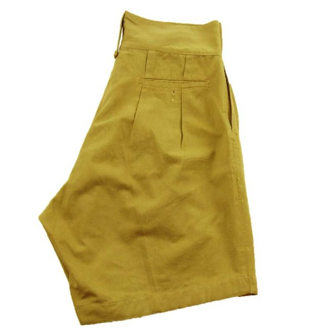 side of Vintage WW2 Military Shorts