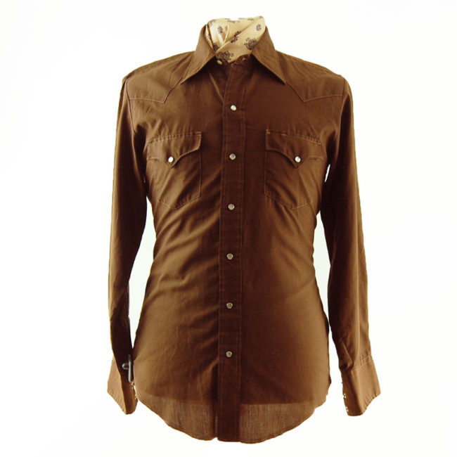 70s Brown Western Shirt