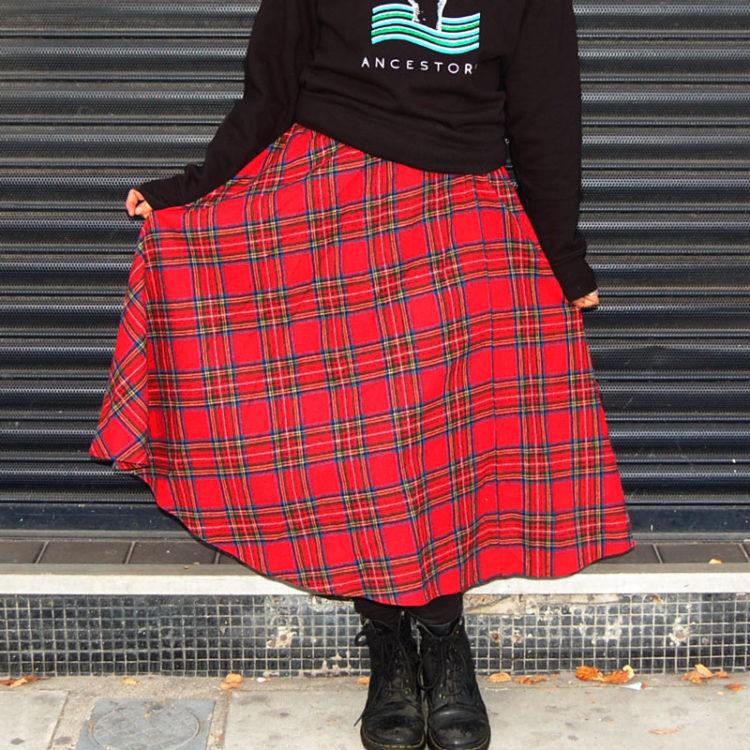 70s Classic Tartan Skirt