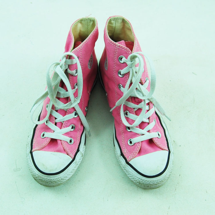 90s Vibrant Pink Converse Sneakers