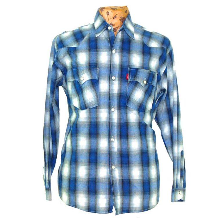 Blurry Checkered Print Shirt