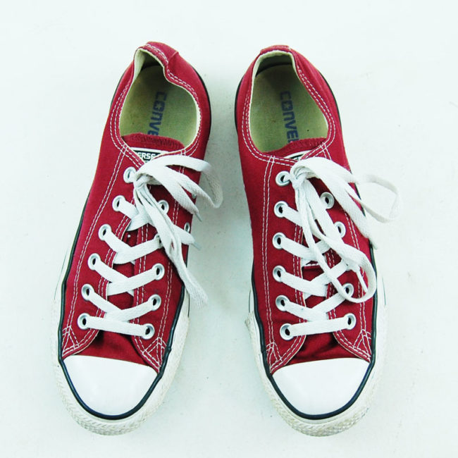 Burgundy All Star Converse Mens Sneakers