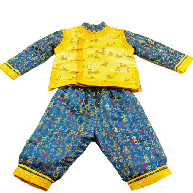 Child Blue And Gold Oriental Formal Wear